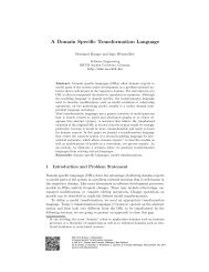 A Domain Specific Transformation Language - Software Engineering