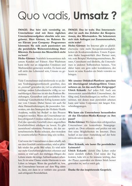Orhideal IMAGE Magazin - Juli 2014