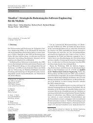 Manifest : Strategische Bedeutung des Software Engineering f ¨ur ...