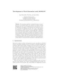 Development of Tool Extensions with MOFLON - Software Engineering