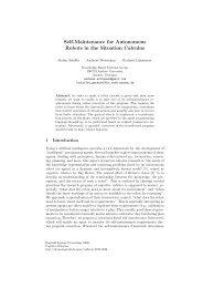 Self-Maintenance for Autonomous Robots in the Situation Calculus