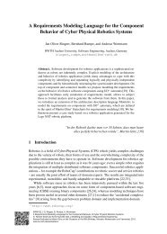 A Requirements Modeling Language for the Component Behavior of ...