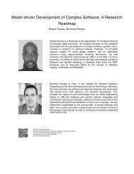 Model-Driven Development of Complex Software: A Research ...