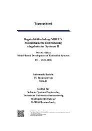 Tagungsband Dagstuhl-Workshop MBEES ... - SSE@TU-BS