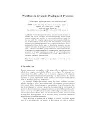 Workflows in Dynamic Development Processes - Software ...