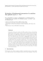 Evolution of fundamental parameters in emission line galaxies up to ...