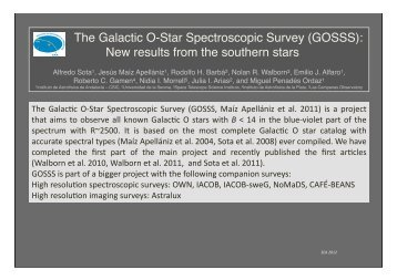 The Galactic O-Star Spectroscopic Survey (GOSSS): New results ...