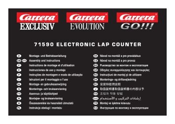 71590 ElEctronic lap countEr - Carrera