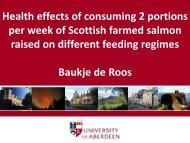 University of Aberdeen - Human intervention study ... - Seafish