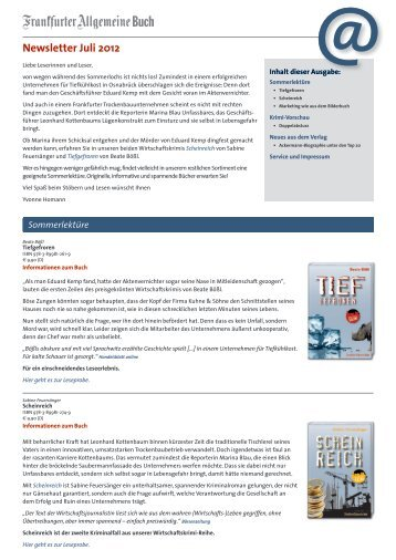 Newsletter Juli 2012 - FAZ-Institut