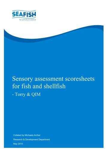 Sensory assessment schemes - seafood - Seafish