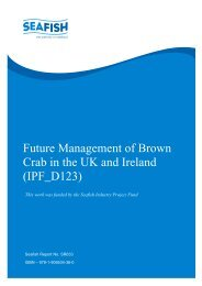 Future Management of Brown Crabs in the UK - Seafish