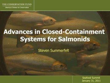 Steve Summerfelt presentation - Seafood Choices Alliance