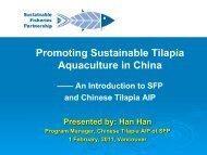 Promoting Sustainable Tilapia Aquaculture in China - Seafood ...