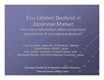 Yuko Onozaka - Seafood Choices Alliance