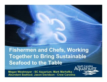 Megan Westmeyer - Seafood Choices Alliance