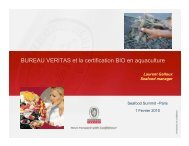Bureau Veritas certif Bio en aquaculture - Seafood Choices Alliance