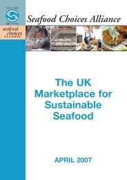 Full Report, The UK Marketplace for Sustainable Seafood