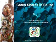 Catch Shares in Belize - Seafood Choices Alliance