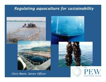Christopher Mann - Seafood Choices Alliance