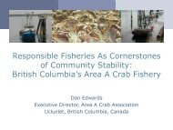 British Columbia's Area A Crab Fishery - Seafood Choices Alliance