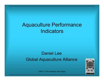 Daniel Lee - Seafood Choices Alliance