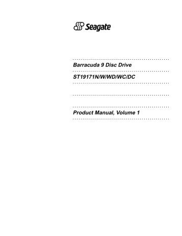 Seagate barracuda st32000542as user manual | 46 pages.