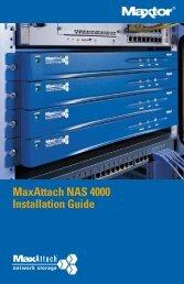 MaxAttach NAS 4000 Installation Guide 1 Box Contents - Seagate