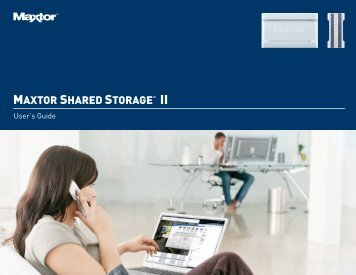 Maxtor Shared Storage II User's Guide, English - Seagate