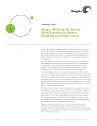 Seagate Briefing: Optimizing Video Surveillance System Reliability ...