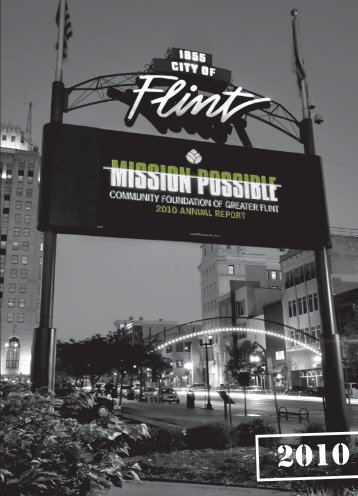 Mission: - Community Foundation of Greater Flint