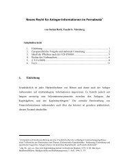Neues Recht für Anleger-Informationen im Fernabsatz 1 ... - Nwir.de