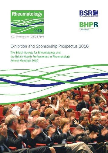 Exhibition and Sponsorship Prospectus 2010 - The British Society ...