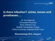 Is there infection? Arthritis, bones and prosthetics