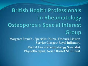 The management of pain and chronic vertebral fracture - The British ...