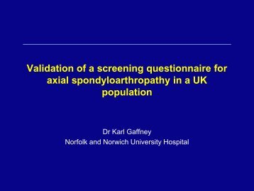 Validation of a screening questionnaire for axial ...