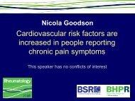 Chronic Pain and Cardiovascular Risk