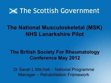 Focus on Scotland - The British Society for Rheumatology