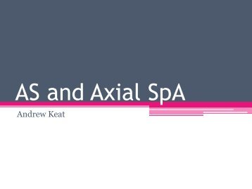 Axial SpA and AS