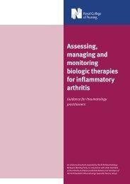 Assessing, managing and monitoring biologic therapies - The British ...