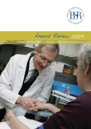 Annual Review 2007 - The British Society for Rheumatology