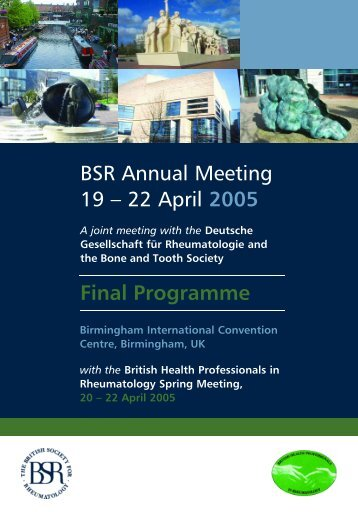 22 April 2005 Final Programme - The British Society for Rheumatology