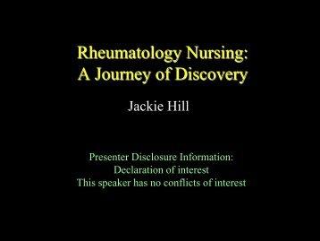 Rheumatology Nursing: A Journey of Discovery - The British Society ...
