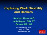 Capturing Work Disability and Barriers