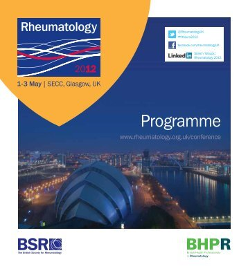 View conference programme - The British Society for Rheumatology