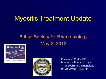 Myositis Treatment Update - The British Society for Rheumatology