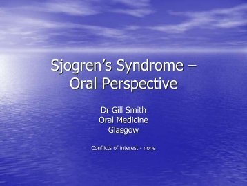 Sjogren's Syndrome – Oral Perspective