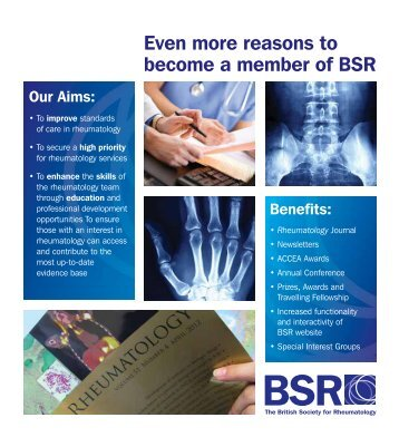 Even more reasons to become a member of BSR - The British ...