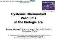 Systemic Rheumatoid Vasculitis in the new Millennium