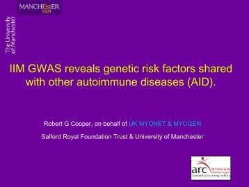 Genome wide association studies in inflammatory myopathy and
